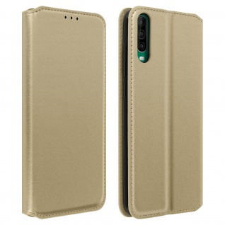 Kunstleder Cover Classic Edition Wiko View 4, Wiko View 4 Lite - Gold