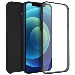 Schutzhülle für Apple iPhone 12 Mini, Vorder- + Rückseite ? Schwarz