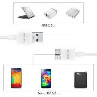 Original Samsung 3A USB/ USB 3.0 Ladekabel 1m ? Ref.: ET-DQ11Y0WE ? Weiß - Vorschau 5