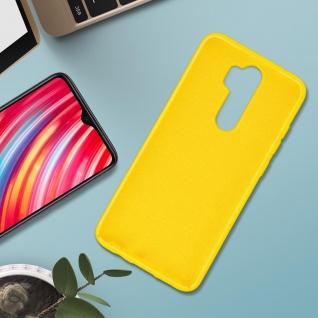 Halbsteife Silikon Handyhülle Xiaomi Redmi Note 8 Pro, Soft Touch - Gelb - Vorschau 3