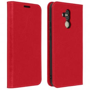 Huawei Mate 20 Lite Flip-Cover aus Echtleder im Brieftaschenstil - Rot