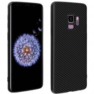 Samsung Galaxy S9 Bumper Schutzhülle mit Carbon-Look - Schwarz