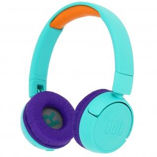 Kabelloser Over-Ear Kopfhörer für Kinder, 85 dB faltbar, JR300BT JBL- Türkisblau