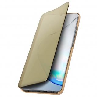 Mirror Klapphülle, Spiegelhülle für Samsung Galaxy Note 10 Lite - Gold - Vorschau 5