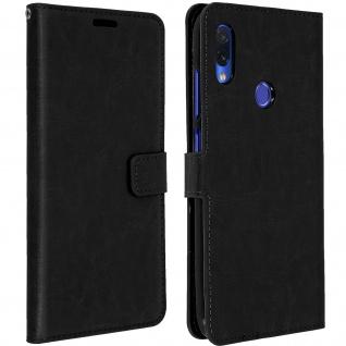 Flip Book Cover, Klappetui aus Kunstleder für Xiaomi Redmi Note 7 - Schwarz