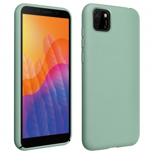Halbsteife Silikon Handyhülle Huawei Y5p, Soft Touch - Grau