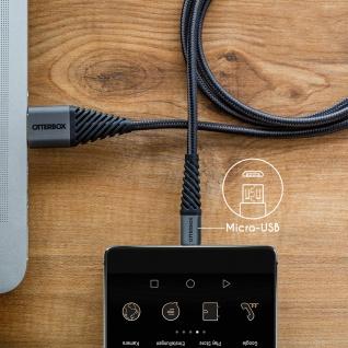 Otterbox Micro-USB- / USB-Kabel 1M zum Aufladen + Synchronisieren - Schwarz - Vorschau 5