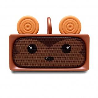 Mini Stereo Lautsprecher mit Bluetooth - MOB, Affe Design - Braun