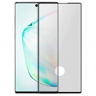 Premium Glas-Schutzfolie für Samsung Galaxy Note 10 - Rand Schwarz