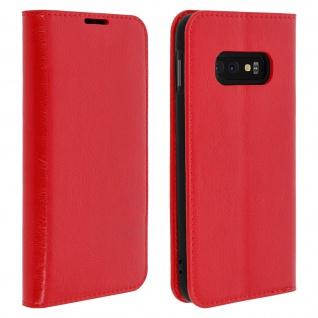 Business Leder Cover, Schutzhülle mit Geldbörse für Galaxy S10e - Rot
