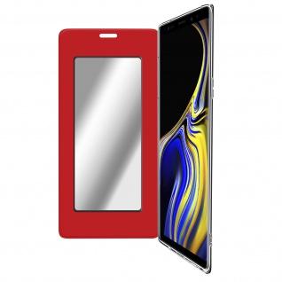 Spiegel Hülle, dünne Klapphülle für Samsung Galaxy Note 9 - Rot