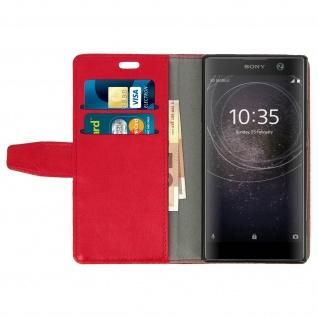 Flip Cover Stand Case Brieftasche & Standfunktion für Sony Xperia XA2 - Rot - Vorschau 3