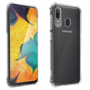 Samsung Galaxy A30 360° Premium Schutz-Set, mit Metallplättchen - Transparent