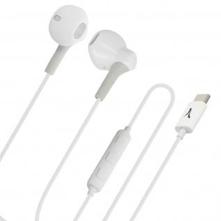Akashi USB-C in-ear Kopfhörer mit Mikrofon und Multifunktionstasten ? Weiß