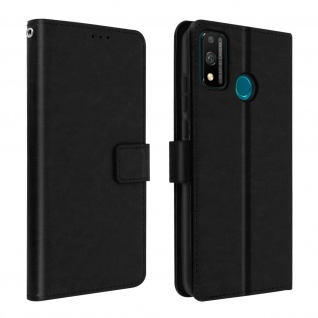 Flip Stand Case Brieftasche & Standfunktion für Honor 9X Lite - Schwarz
