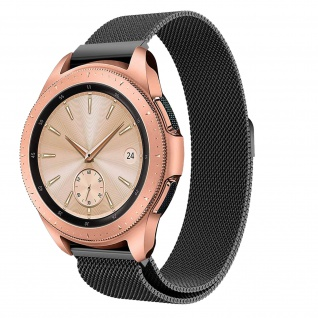 Milanaise-Armband aus Edelstahl für Samsung Galaxy Watch 42 mm ? Schwarz
