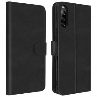 Soft Touch Flip-Cover Geldbörse mit Standfunktion Sony Xperia L4 - Schwarz