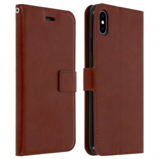 Flip Stand Cover Brieftasche & Standfunktion Apple iPhone XS Max - Braun