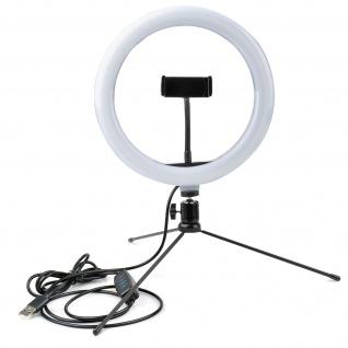 LoomiPod Mini 26cm Ringlicht mit Stativ von 4Smarts ? Schwarz