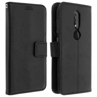 Nokia 4.2 Flip-Cover mit Kartenfächern & Standfunktion ? Schwarz