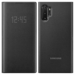 Original Samsung LED-View Cover + Kartenfach Galaxy Note 10 Plus - Schwarz