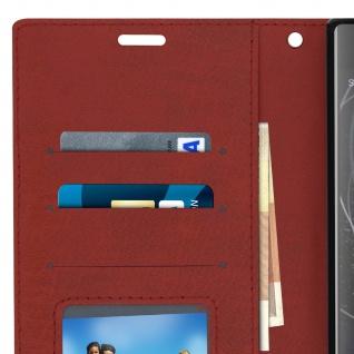 Flip Stand Cover Brieftasche & Standfunktion Sony Xperia XA2 Plus - Braun - Vorschau 5