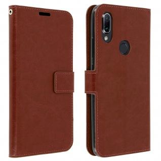 Flip Stand Cover Brieftasche & Standfunktion für Xiaomi Redmi 7 - Braun