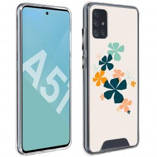 Stoßfeste Handyhülle für Samsung Galaxy A51, Made in France ? Kleeblatt Design