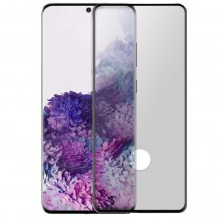 Premium Panzerglas Schutzfolie für Samsung Galaxy S20 - Rand Schwarz