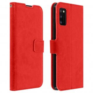 Flip Stand Case Brieftasche & Standfunktion für Samsung Galaxy A41 - Rot