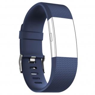 Silicone Sport Armband für FitBit Charge 2, mit Dornschließe ? Dunkelblau