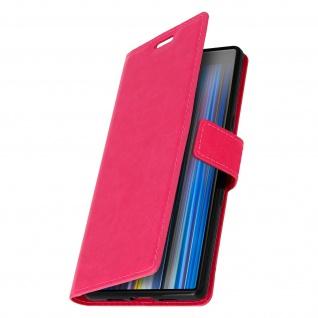 Flip Stand Cover Brieftasche & Standfunktion für Sony Xperia 10 - Rosa - Vorschau 2