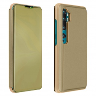 Xiaomi Mi Note 10 Mirror Klapphülle mit Spiegeleffekt & Standfunktion ? Gold