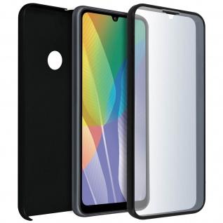 Schutzhülle für Huawei Y6p, Vorder- + Rückseite ? Schwarz