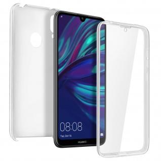 Schutzhülle für Huawei Y7 2019, Vorder- + Rückseite ? Transparent