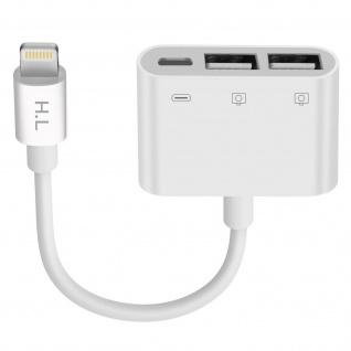 HL-110 iPhone / iPad Lightning auf 2x USB + Lightning Adapter - Weiß