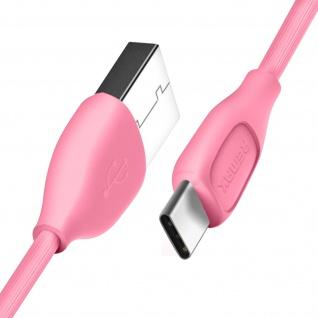 USB Typ-C auf USB Kabel, 1 Meter, Aufladen & Sync, Aluminium, Remax - Rosa - Vorschau 2