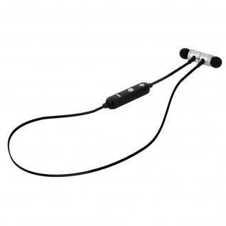 Magnetische Bluetooth-Kopfhörer mit Micro-SD Kartenslot, Hals-Design-Silber
