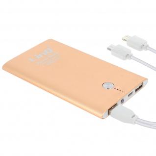 6000mAh Powerbank, Akkupack mit 2 USB-Ports, Quick Charge 2.0 LinQ - Gold