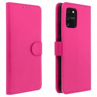 Samsung Galaxy S10 Lite Flip-Cover mit Kartenfächern & Standfunktion - Rosa