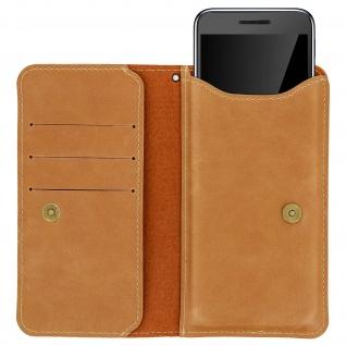 Universal Flip-Schutzhülle 5.3'' bis 5.5'' Smartphones - Brieftaschenstil Camel