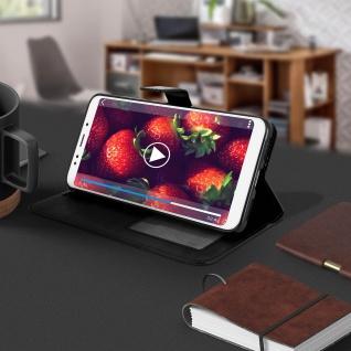 Flip Cover Stand Case Brieftasche & Standfunktion für Xiaomi Redmi 5 - Schwarz - Vorschau 4