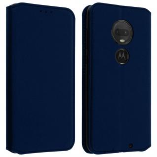 Kunstleder Cover Classic Edition Motorola Moto G7 Power - Dunkelblau