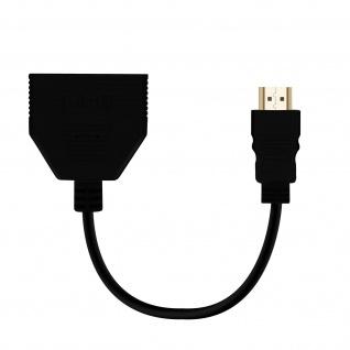Multiport Adapter /HUB HDMI männlich auf 2x HDMI-Ports, by LinQ - Schwarz