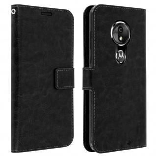 Flip Stand Cover Brieftasche & Standfunktion für Moto G7, Moto G7 Plus - Schwarz