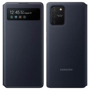 Original Samsung S View Wallet Cover, Klapphülle für Galaxy S10 Lite - Schwarz