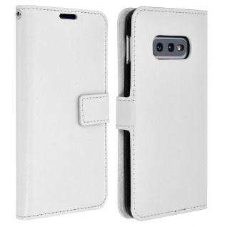 Flip Stand Cover Brieftasche & Standfunktion für Samsung Galaxy S10e - Weiß