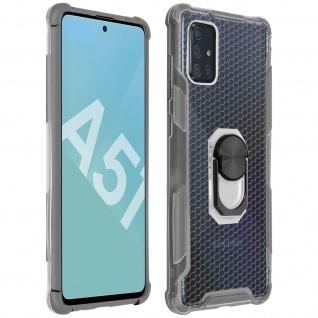 Hybrid Handyhülle mit Ring Halterung für Galaxy A51 ? Grau