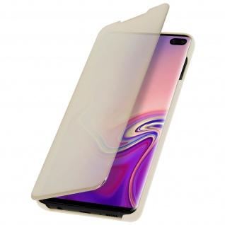 Samsung Galaxy S10 Plus Flip Cover mit Spiegeleffekt & Standfunktion - Gold