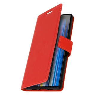 Flip Stand Cover Brieftasche & Standfunktion für Sony Xperia 10 - Rot 2